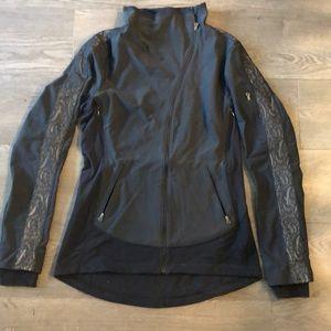Black Asymmetrical Zip Lululemon Running Jacket